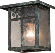Meyda Tiffany 43258 Hyde Park Sprig Country Zald Verd Exterior Wall Lamp