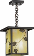 Meyda Tiffany 43616 Hyde Park Vine Leaf Rustic Bai Craftsman Pendant Light