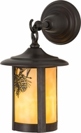 Meyda Tiffany 43801 Fulton Winter Pine Country Beige Craftsman Outdoor Wall Lighting