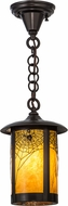 Meyda Tiffany 44361 Fulton Spider Web Rustic Ha Craftsman Mini Hanging Lamp