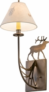 Meyda Tiffany 47762 Lone Elk Country Antique Copper Wall Lighting