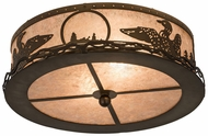 Meyda Tiffany 48796 Loon Rustic Antique Copper / Silver Mica Ceiling Lighting Fixture
