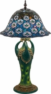 Meyda Tiffany 49424 Tiffany Peacock Feather Tiffany Side Table Lamp