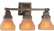 Meyda Tiffany 50362 Bungalow Frosted Amber Amber Etch 3-Light Bath Lighting