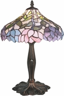 Meyda Tiffany 52134 Wisteria Tiffany Beige Pink Purple Table Light