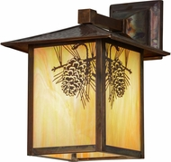 Meyda Tiffany 57111 Seneca Winter Pine Bai Vintage Copper Exterior Wall Light Fixture