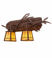 Meyda Tiffany 65090 Pine Branch Valley View Rust/Bai Halogen Wall Lighting Fixture