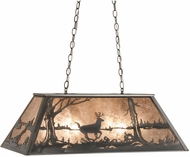 Meyda Tiffany 66214 Deer on the Loose Country Steel / Silver Mica Kitchen Island Lighting