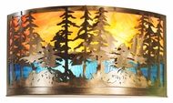 Meyda Tiffany 66935 Tall Pines Country Antique Copper Finish 24 Wide Wall Sconce Lighting
