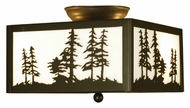 Meyda Tiffany 67341 Tall Pines Timeless Bronze Finish 7  Tall Overhead Lighting Fixture
