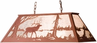 Meyda Tiffany 67745 Elk at Lake Country Rust / Silver Mica Island Light Fixture