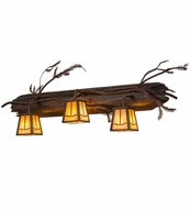 Meyda Tiffany 67906 Pine Branch Valley View Rust/Wrought Iron/Bai Halogen Wall Sconce