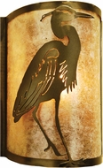 Meyda Tiffany 68186 Heron Right Rustic Antique Copper / Silver Mica Wall Light Sconce