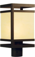 Meyda Tiffany 68965 Contemporary Cafe Noir / Ivory Acrylic Fluorescent Exterior Post Lamp