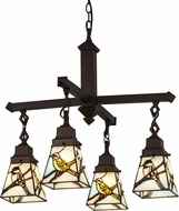 Meyda Tiffany 69276 Backyard Friends Tiffany Seafoam Beige Grey Mini Chandelier Lighting