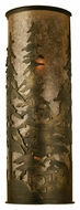 Meyda Tiffany 70140 Tall Pines Rustic Antique Copper Finish 36 Tall Wall Lighting Sconce