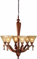 Meyda Tiffany 71447 Oakland Pearl Amber Aged Copper Lighting Chandelier