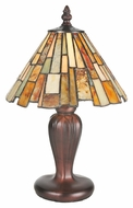 Meyda Tiffany 72580 Jadestone Delta Tiffany 8  Wide Lighting Table Lamp