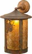 Meyda Tiffany 73438 Fulton Winter Pine Rustic Amb Mica Vintage Copper Wall Sconce Light