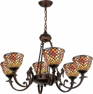 Meyda Tiffany 74043 Fishscale Tiffany Chandelier Light