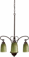 Meyda Tiffany 74054 Terra Verde Tiffany Mahogany Bronze Mini Ceiling Chandelier