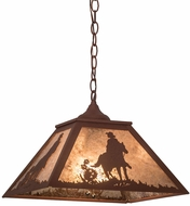 Meyda Tiffany 76321 Cowboy Country Rust / Silver Mica Drop Lighting
