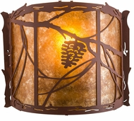 Meyda Tiffany 77901 Whispering Pines Rustic Rust / Amber Mica Lighting Sconce