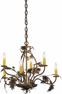 Meyda Tiffany 81244 Oak Leaf & Acorn Country Burnished Antique Copper Ceiling Chandelier