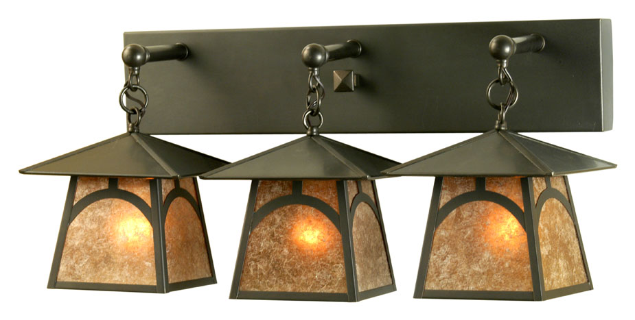 Meyda Tiffany 81404 Stillwater Hill Top Craftsman 26u0026nbsp; Wide Exterior  Vanity Light. Loading Zoom