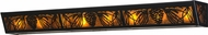 Meyda Tiffany 81694 Mountain Pine Country Black / Amber Mica Vanity Light