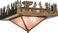 Meyda Tiffany 82111 Pine Lake Country Antique Copper / Silver Mica Flush Mount Light Fixture