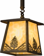 Meyda Tiffany 82136 Mountain Pine Antique Copper Mini Hanging Pendant Light
