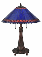 Meyda Tiffany 82875 Tiffany Jeweled Peacock Tiffany 20  Wide Table Top Lamp