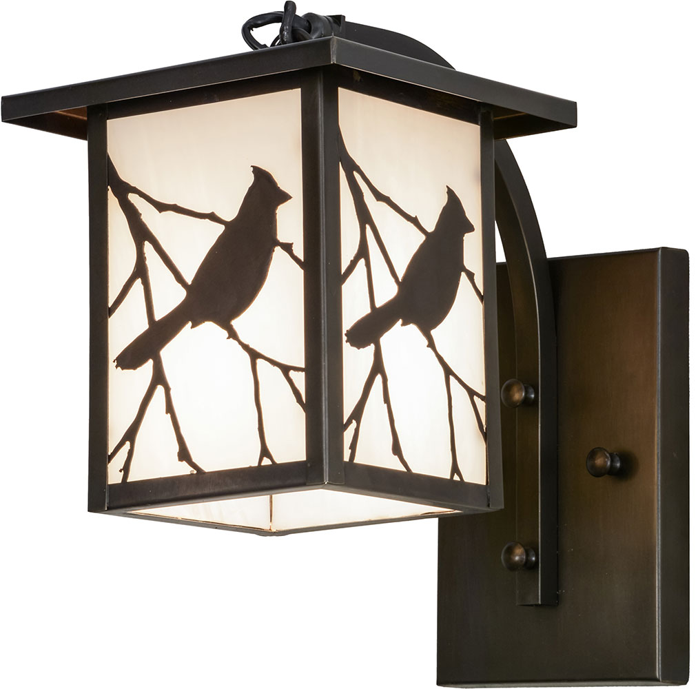 Meyda Tiffany 87906 Hyde Park Song Bird Ca Craftsman Exterior Light Sconce.  Loading Zoom