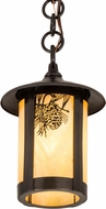 Meyda Tiffany 90066 Fulton Winter Pine Country Bai Craftsman Mini Drop Ceiling Lighting