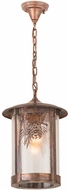 Meyda Tiffany 90368 Fulton Winter Pine Country Zasdy Vintage Copper Lighting Pendant
