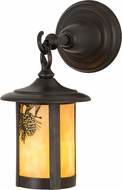 Meyda Tiffany 90846 Fulton Winter Pine Rustic Beige Craftsman Outdoor Wall Light Fixture