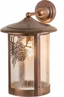 Meyda Tiffany 91510 Fulton Winter Pine Country Zasdy Vintage Copper Lighting Wall Sconce