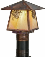 Meyda Tiffany 92520 Stillwater Winter Pine Bai Vintage Copper Outdoor Post Light