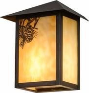 Meyda Tiffany 95450 Seneca Winter Pine Beige Craftsman Wall Mounted Lamp