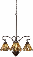 Meyda Tiffany 98058 Delta Jadestone Tiffany Mahogany Bronze Mini Chandelier Light