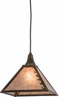 Meyda Tiffany 98719 Leafs Edge Antique Copper / Silver Mica Drop Lighting Fixture