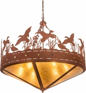 Meyda Tiffany 98952 Ducks in Flight Rustic Amber Mica Rust Pendant Lamp