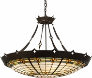 Meyda Tiffany 98957 Fleur-de-Lite Tiffany Timeless Bronze Lighting Pendant