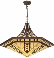 Meyda Tiffany 98959 Sonoma Tiffany Cinnamon Coffee Metallic Pendant Lamp