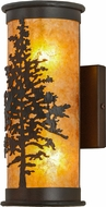 Meyda Tiffany 99147 Tamarack Rust / Wrought Iron / Amber Mica Wall Light Sconce