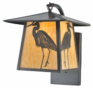 Meyda Tiffany 99456 Stillwater Heron 12  Wide Exterior Lighting Wall Sconce