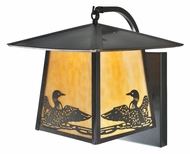 Meyda Tiffany 99457 Stillwater Loon 13  Tall Exterior Wall Outdoor Lighting Sconce