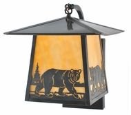 Meyda Tiffany 99458 Stillwater Northwoods Bear Creek 12  Wide Exterior Wall Sconce Lighting