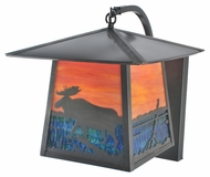 Meyda Tiffany 99460 Stillwater Moose at Lake 12  Wide Exterior Wall Light Sconce